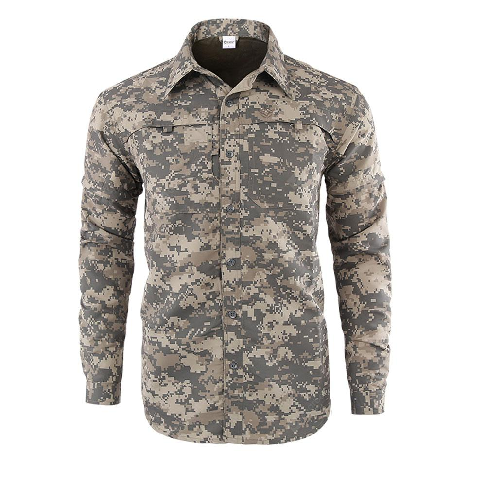 Outdoor Removable Long Sleeve Breathable Quick-drying Shirt