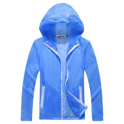 Male and Female Summer Ultra-Thin Skin Clothing Quick-Drying Sports Sun Coat