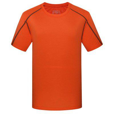 Outdoor Male Mountaineering Running Round Neck Short Sleeve Quick-Drying T-Shirt