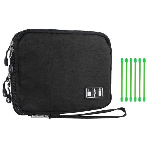 83ce0f1acf Universal Portable Double Layer Electronics Accessories Case Pouch Gear Travel  Storage Cable Organizer Bag (Large) -  18.70 Free Shipping
