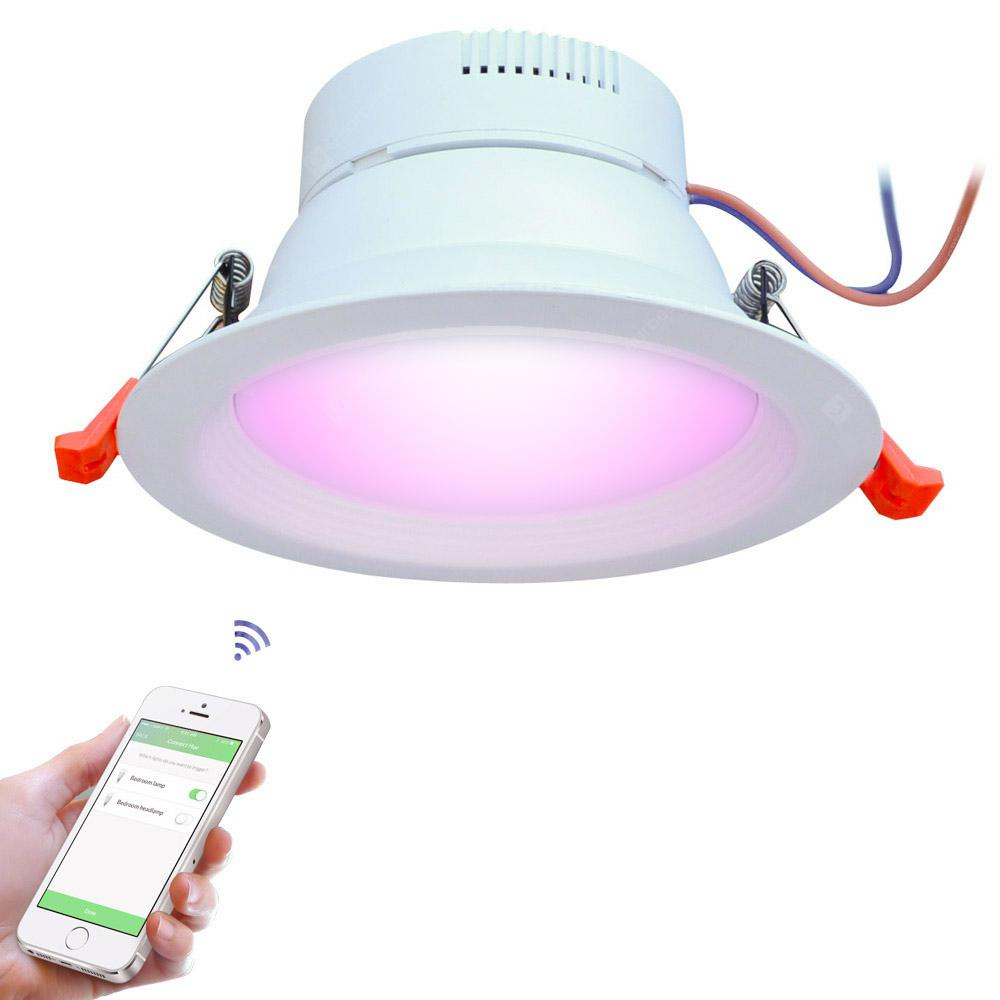 more photos d5419 e5700 JIAWEN Smart Home 9W RGBW LED Downlight APP Control Work with Zigbee Bridge