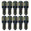 Sencart 10PCS BA9S 3014 SMD 24 LED Car Bulb Backup Light White DC 12-16V - WHITE