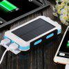 TODO Portable Solar Power Bank Charger 8000mAh with LED Compass - MILK WHITE