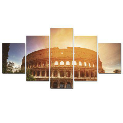 W352 Roman Architecture Unframed Wall Impressions sur toile pour Home Decorations 5 PCS