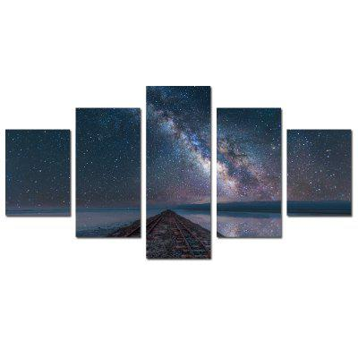 W355 Starry Sky Unframed Wall Canvas Prints for Home Decorations 5PCS