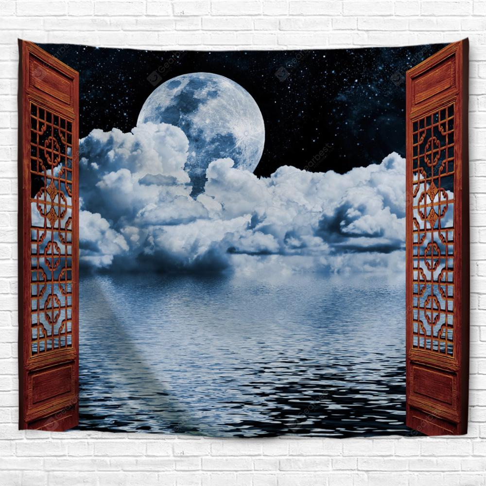 Bright Moon at Sea 3D Printing Home Wall Hanging Tapestry for Decoration