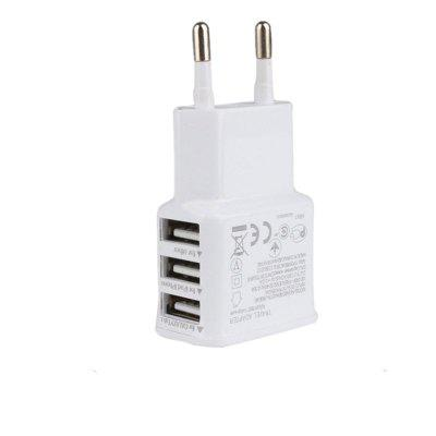 3-port USB Wall Adapter Charger EU Plug for for Samsung S5/S6, iPhone