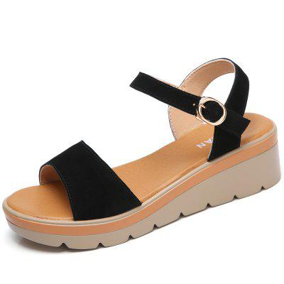 Sandals Women Summer Suede Female Gladiator Roman 6CM Wedges Shoes кпб mp 31