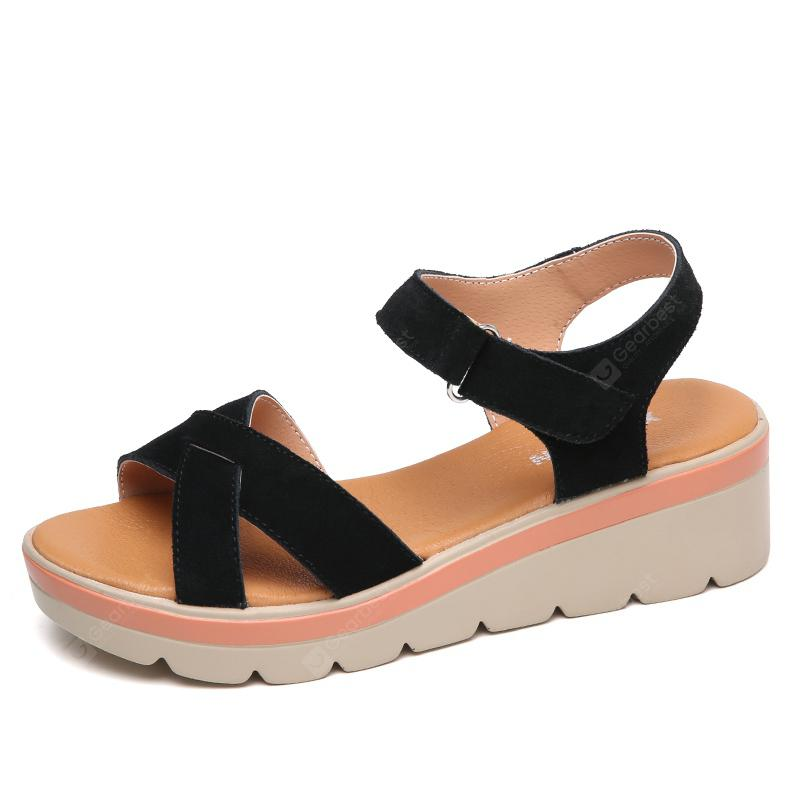 for sale the cheapest Sandals Women Summer Suede 6 CM Female Leisure Gladiator Roman Wedges Shoes discount original low shipping fee cheap price gpjqUQf