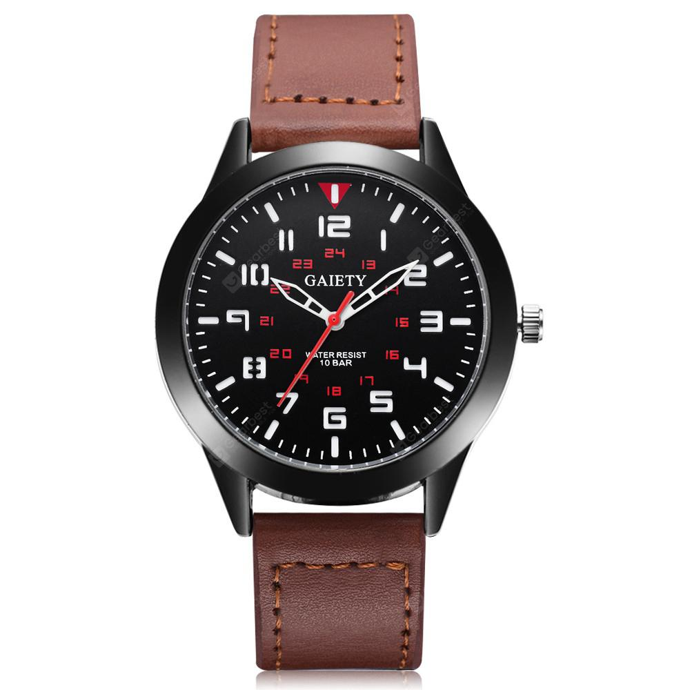 GAIETY G545  Men's Casual Analog Quartz Leather Band Watch