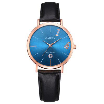 GAIETY G546 Women's Analog Quartz PU Leather Watch with Date