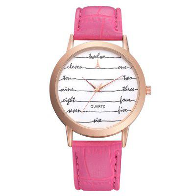 Lvpai P462 Women Letters Dial Analog Quartz Wrist Watch