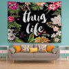 Flower Letters 3D Printing Home Wall Hanging Tapestry for Decoration - MULTI-A