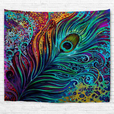Colorful Peacock Feather 3D Printing Home Wall Hanging Tapestry for Decoration