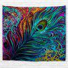 Colorful Peacock Feather 3D Printing Home Wall Hanging Tapestry for Decoration - MULTI-A