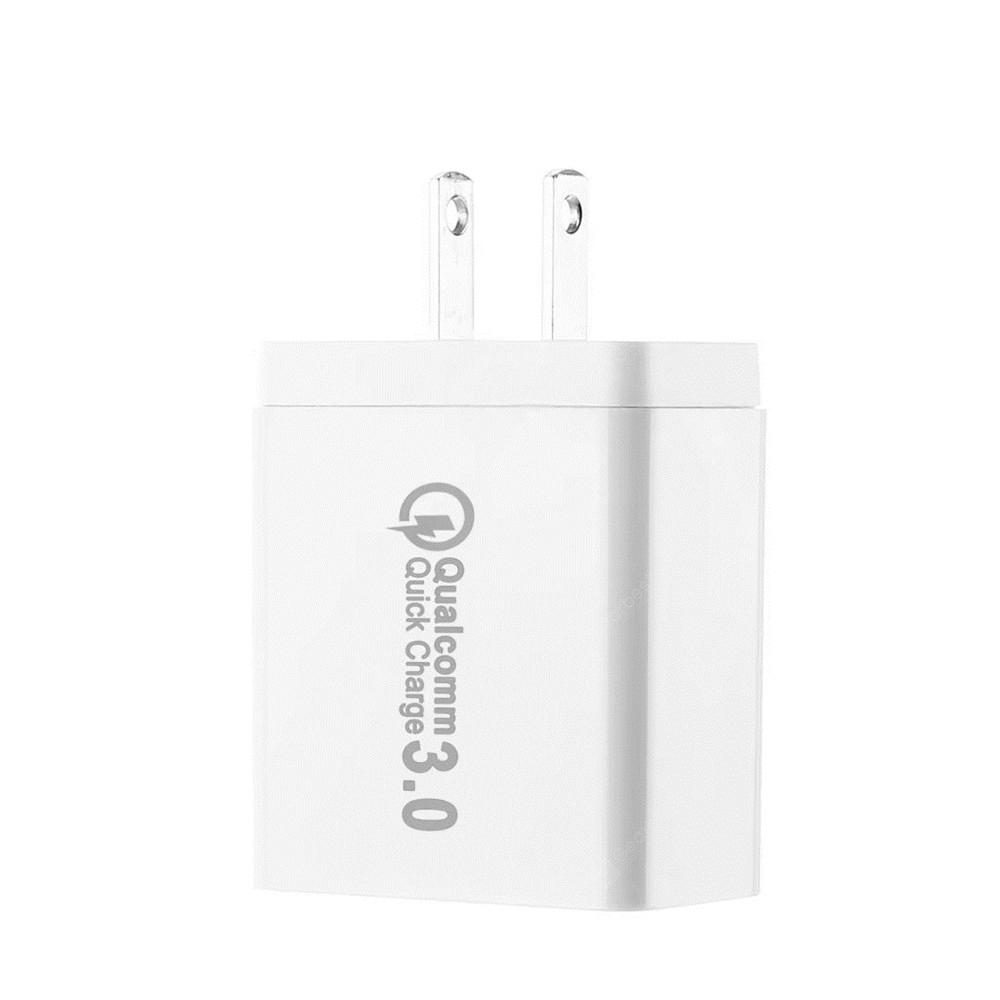3 Ports Quick Charger QC 3.0 USB Fast Charging US Plug White