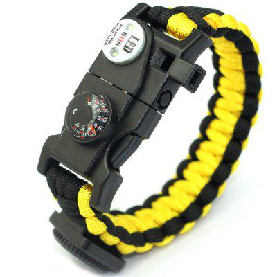 Umbrella Rope SOS Compass Tool Card Emergency Survival Bracelet