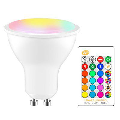 OMTO 5W RGBW LED Bulbo GU10 Color que cambia la atmósfera que enciende la lámpara del LED
