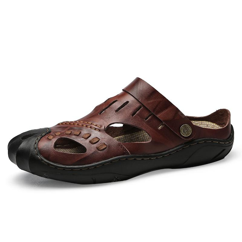 Leather Handmade Sandals New Men's Shoes gYbyf76
