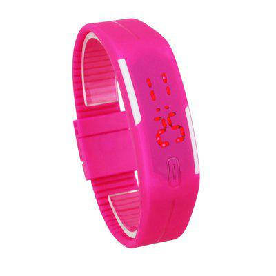 Simple Silicone Bracelet Touch Screen LED Digital Display Unisex Sports Watch
