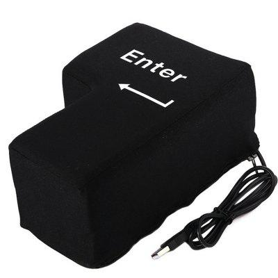 Teclado de la computadora de la esponja USB Big Enter Key Pillow Desktop para Home Office Laptop