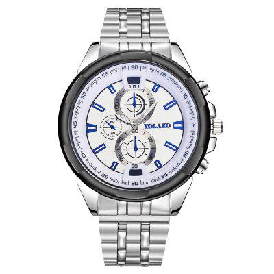 Men's Large Dial Creative Quartz Stainless Steel Dress Watch