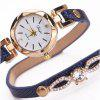 DUOYA Fashion Women's Quartz Dress Bracelet Watch - NAVY BLUE