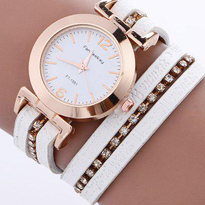 Fashion Women's Sparkle Crystal Bracelet Quartz Dress Watch