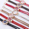 Fashion Women's Sparkle Crystal Bracelet Quartz Dress Watch - CAMELO MARROM