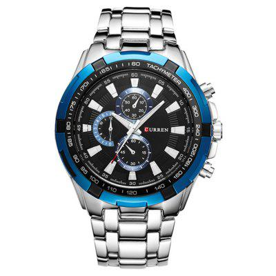 CURREN Men Stainless Steel Analog Quartz Watch
