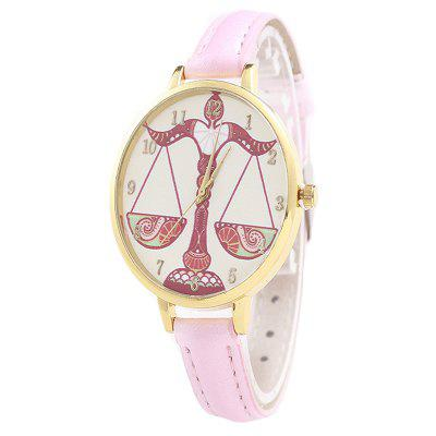 Women Quartz Watch with Cartoon Ribbon