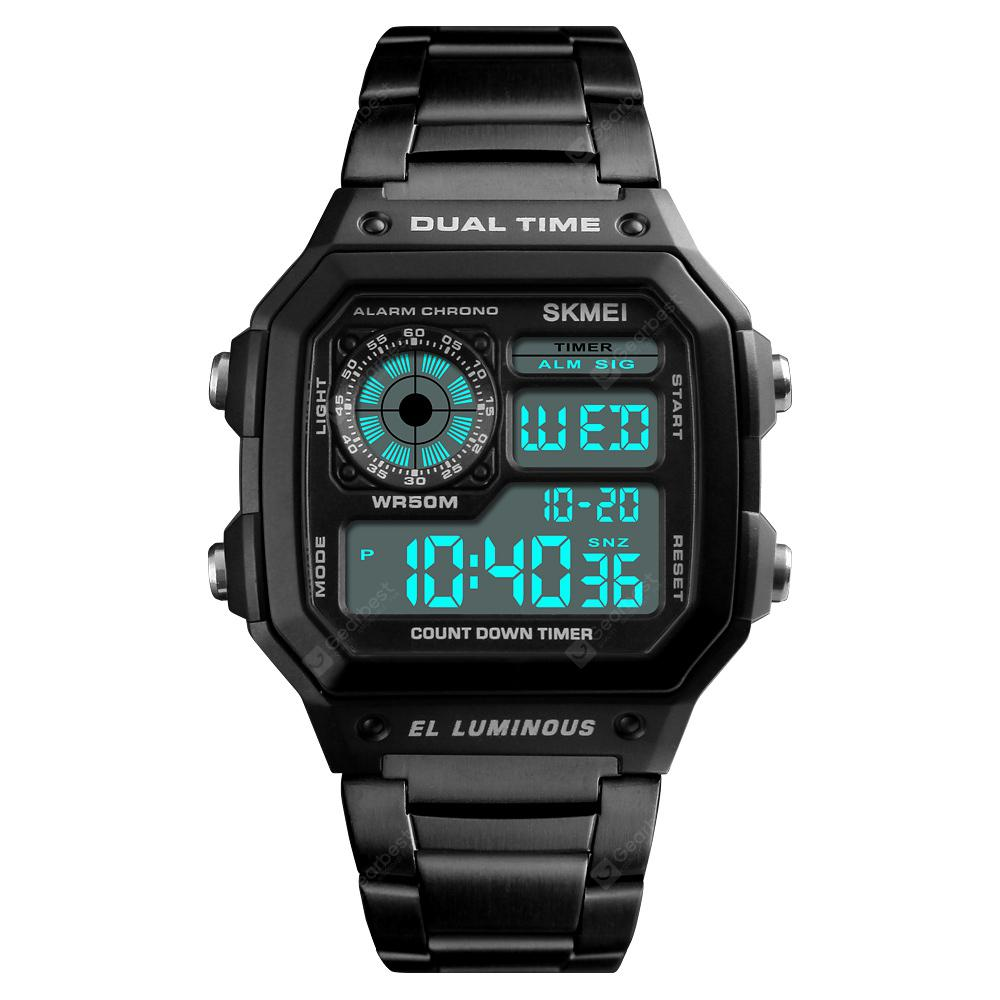 Fashion Men Watches Dress Led Digital Women Sports Watch El Back Chrono Wristwatch Waterproof Reloj Hombre 2018 Skmei And To Have A Long Life. Men's Watches