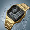 SKMEI Men Sports  Waterproof Watch Stainless Steel Fashion Digital Wristwatches - GOLD