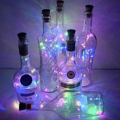 YWXLight Solar Cork Shaped 8 LED Night Fairy String Light Wine Bottle Lamp 4PCS