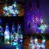 YWXLight Solar Cork Shaped 8 LED Noční víla String Light Light Wine Bottle Lamp 4PCS - MULTI