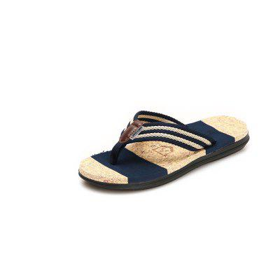Men Casual Sandals Beach Breathable Striped Flip-Flop Slippers