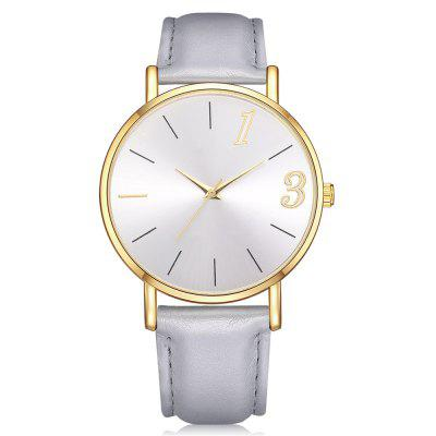 Lvpai P312 Women Analog Quartz Leather Watch Gold Case