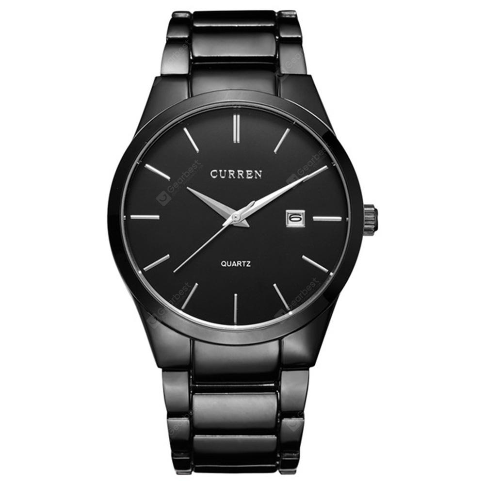 CURREN Men's Fashion and Casual Simple Quartz Stainless Steel Dress Wrist Watch (Akció indulása 2019. július 10. 18:00)
