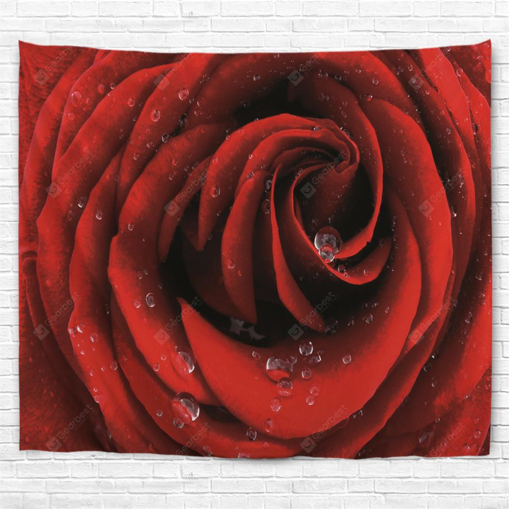 A Rose 3D Printing Home Wall Hanging Tapestry for Decoration