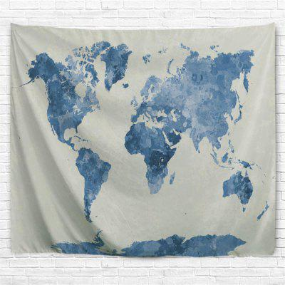 Ink World Map 3D Printing Home Wall Hanging Tapestry for Decoration