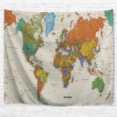 Colorful World Map 3D Printing Home Wall Hanging Tapestry for Decoration