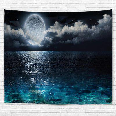 Full Moon Night 3D Printing Home Wall Hanging Tapestry for Decoration