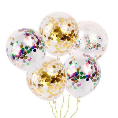 Party Confetti Gold Glitter Balloons Wedding Decorations