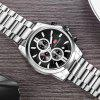 MINI FOCUS Sports Top Brand Luxury Men Business Stainless Steel Quartz Watch - SILVER