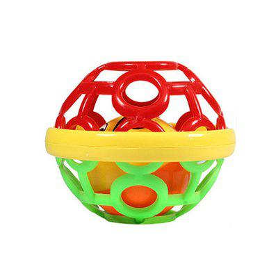 Baby Soft Rubber Ball Puzzle Hand Bell