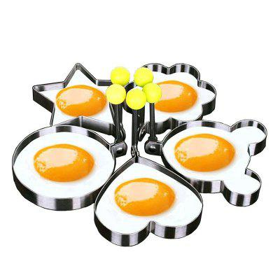 Stainless Steel Cute Shaped Fried Egg Mold 5PCS