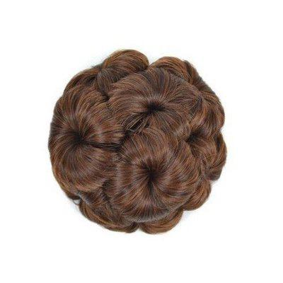 TODO 12cm Flowers Bud Insert Comb Clip In Bun Updo Cover Hair Extensions