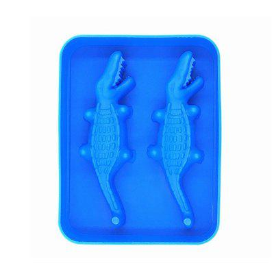 Krokodil alakú 3D Ice Cube Maker Bar Party Szilikon tálca Jelly Mold