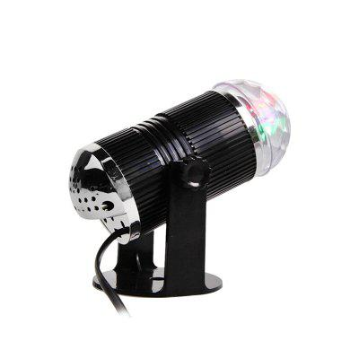 LED Light Rotating Sound Active  Crystal Magic Ball for Stage DJ KTV Party