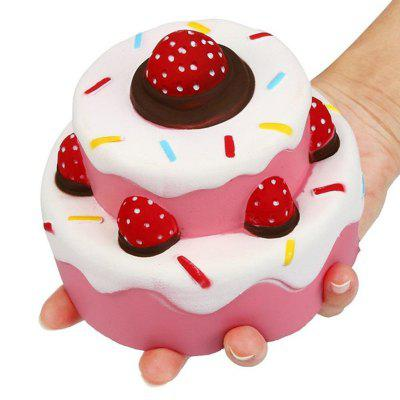 Jumbo Squishy Scented Slow Rising Pink Strawberry Cake Toys slow rebound and decompression toy strawberry cake jumbo squishy